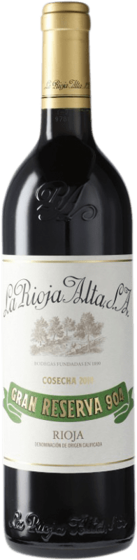 47,95 € Free Shipping | Red wine Rioja Alta 904 Gran Reserva D.O.Ca. Rioja Spain Tempranillo Bottle 75 cl
