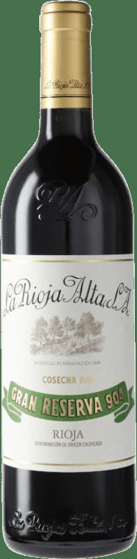 47,95 € 免费送货 | 红酒 Rioja Alta 904 Gran Reserva D.O.Ca. Rioja 西班牙 Tempranillo 瓶子 75 cl