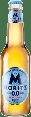 0,95 € 免费送货   啤酒 Cervezas Moritz Aigua de Moritz 加泰罗尼亚 西班牙 Botellín Tercio 33 cl