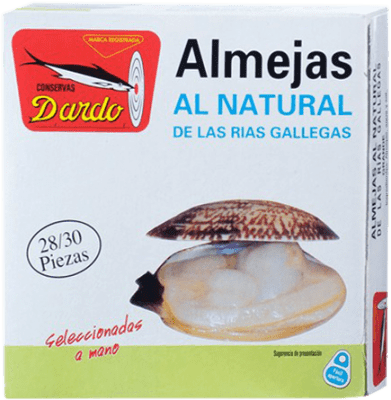 61,95 € Free Shipping | Conservas de Marisco Dardo Almeja al Natural Reserva Spain 25/30 Pieces