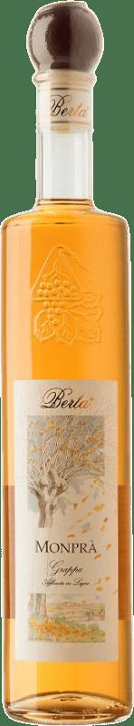 41,95 € Envío gratis | Grappa Berta Barbera Monprà D.O.C. Piedmont Piemonte Italia Botella 70 cl