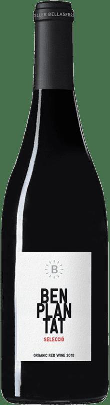 7,95 € Free Shipping | Red wine Bellaserra Benplantat Negre Selecció Spain Merlot, Picapoll Black Bottle 75 cl