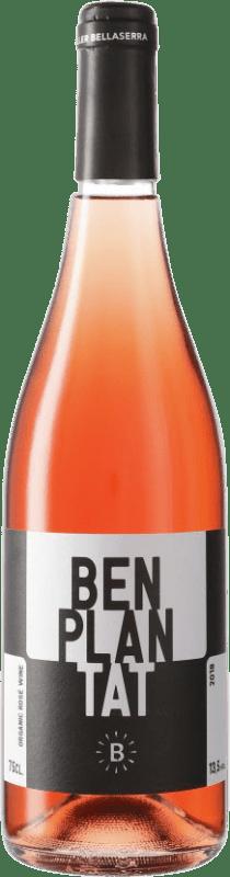 5,95 € Free Shipping | Rosé wine Bellaserra Benplantat Rosat Spain Merlot, Picapoll Black Bottle 75 cl