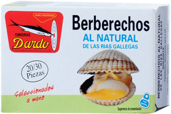 19,95 € Free Shipping | Conservas de Marisco Dardo Berberechos al Natural Spain 20/30 Pieces
