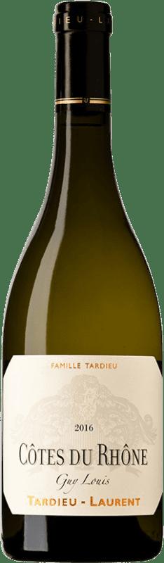 24,95 € | White wine Tardieu-Laurent Blanc Guy Louis A.O.C. Côtes du Rhône France Grenache, Viognier, Marsanne, Clairette Blanche Bottle 75 cl