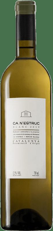 4,95 € Envoi gratuit | Vin blanc Ca N'Estruc Blanc D.O. Catalunya Catalogne Espagne Grenache Blanc, Muscat, Macabeo, Xarel·lo Bouteille 75 cl