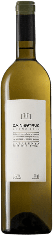 4,95 € Free Shipping | White wine Ca N'Estruc Blanc D.O. Catalunya Catalonia Spain Grenache White, Muscatel, Macabeo, Xarel·lo Bottle 75 cl