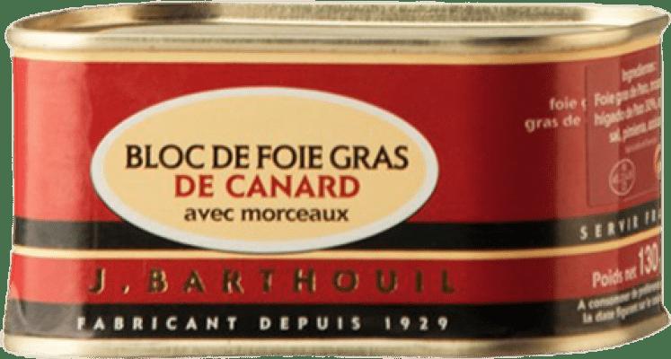 16,95 € | Foie y Patés J. Barthouil Bloc de Foie Gras de Canard avec Morceaux France