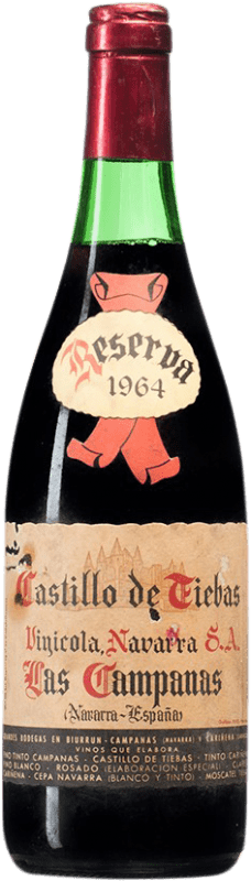 68,95 € Envoi gratuit | Vin rouge Vinícola Navarra Campanas Reserva 1964 D.O. Navarra Navarre Espagne Tempranillo, Cabernet Sauvignon Bouteille 75 cl