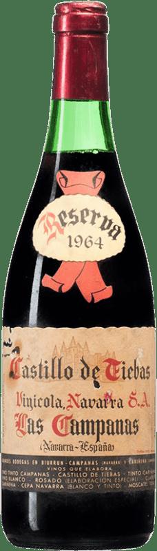 68,95 € 免费送货 | 红酒 Vinícola Navarra Campanas Reserva 1964 D.O. Navarra 纳瓦拉 西班牙 Tempranillo, Cabernet Sauvignon 瓶子 75 cl