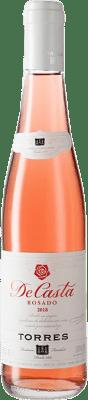 3,95 € 免费送货 | 玫瑰酒 Torres Casta Rosat D.O. Penedès 加泰罗尼亚 西班牙 Grenache, Carignan 半瓶 37 cl
