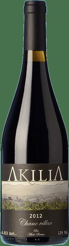 21,95 € Free Shipping | Red wine Akilia Chano Villar D.O. Bierzo Castilla y León Spain Mencía Bottle 75 cl
