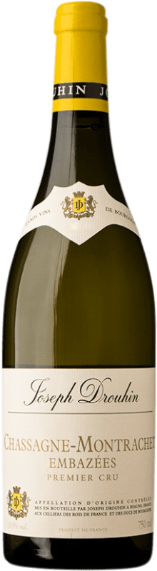 99,95 € Free Shipping | White wine Drouhin Chassagne 1er Cru Les Embazées A.O.C. Montrachet Burgundy France Chardonnay Bottle 75 cl