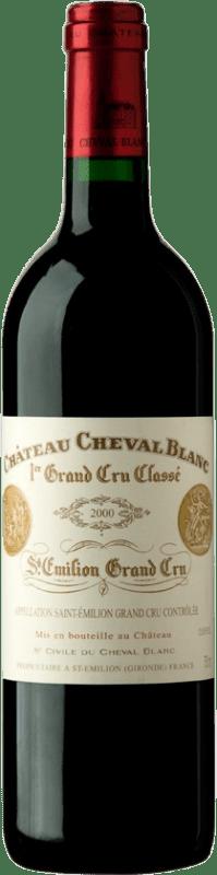 881,95 € Free Shipping | Red wine Château Cheval Blanc 2000 Bordeaux France Merlot, Cabernet Franc Bottle 75 cl