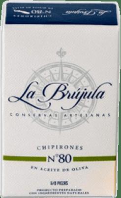 6,95 € Envoi gratuit | Conservas de Marisco La Brújula Chipirones en Aceite de Oliva Espagne 6/8 Pièces