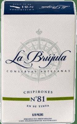 6,95 € | Conservas de Marisco La Brújula Chipirones en su Tinta Spain 6/8 Pieces