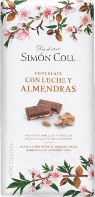 6,95 € Envoi gratuit | Chocolates y Bombones Simón Coll Chocolate con Leche y Almendras Espagne
