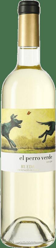 22,95 € Free Shipping | White wine Uvas Felices El Perro Verde D.O. Rueda Castilla y León Spain Verdejo Magnum Bottle 1,5 L