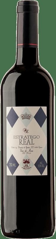 4,95 € Envoi gratuit | Vin rouge Dominio de Eguren Estratego Real Negre Espagne Tempranillo Bouteille 75 cl