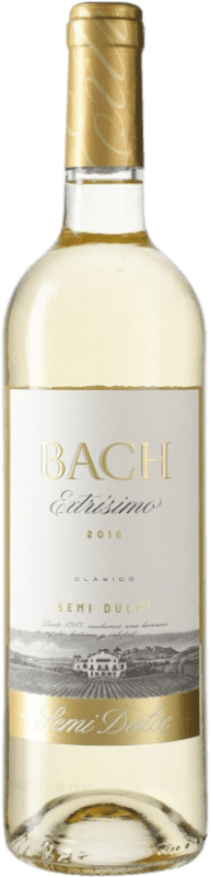 4,95 € Free Shipping | White wine Bach Extrísimo Semi Dry D.O. Penedès Catalonia Spain Bottle 75 cl