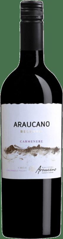 14,95 € Envío gratis | Vino tinto Piedra Negra François Lurton Araucano I.G. Valle de Colchagua Valle de Colchagua Chile Carmenère Botella 75 cl