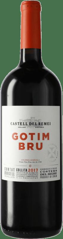19,95 € 免费送货 | 红酒 Castell del Remei Gotim Bru D.O. Costers del Segre 西班牙 Tempranillo, Merlot, Grenache, Cabernet Sauvignon 瓶子 Magnum 1,5 L