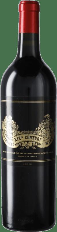 489,95 € Free Shipping | Red wine Château Palmer Historical XIXth Century Wine A.O.C. Margaux Bordeaux France Merlot, Cabernet Sauvignon Bottle 75 cl