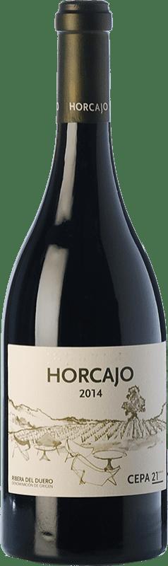 73,95 € 免费送货 | 红酒 Cepa 21 Horcajo D.O. Ribera del Duero 卡斯蒂利亚莱昂 西班牙 Tempranillo 瓶子 75 cl