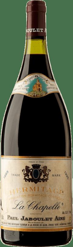 549,95 € Envío gratis | Vino tinto Jaboulet Aîné La Chapelle 1995 A.O.C. Hermitage Francia Syrah Botella Mágnum 1,5 L