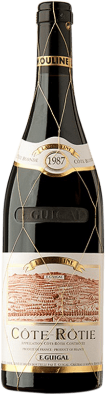 607,95 € Free Shipping | Red wine Domaine E. Guigal La Mouline 1987 A.O.C. Côte-Rôtie France Syrah, Viognier Bottle 75 cl