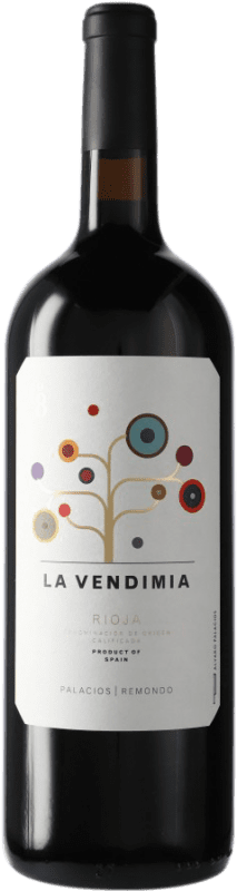 17,95 € | Red wine Palacios Remondo La Vendimia D.O.Ca. Rioja Spain Tempranillo, Grenache Magnum Bottle 1,5 L