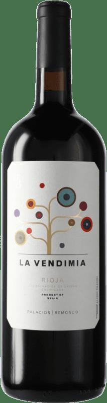 17,95 € Envio grátis   Vinho tinto Palacios Remondo La Vendimia D.O.Ca. Rioja Espanha Tempranillo, Grenache Garrafa Magnum 1,5 L