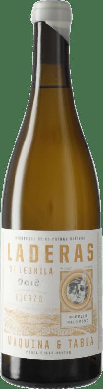 9,95 € Envío gratis | Vino blanco Máquina & Tabla Laderas de Leonila D.O. Bierzo Castilla y León España Godello, Palomino Fino, Doña Blanca Botella 75 cl