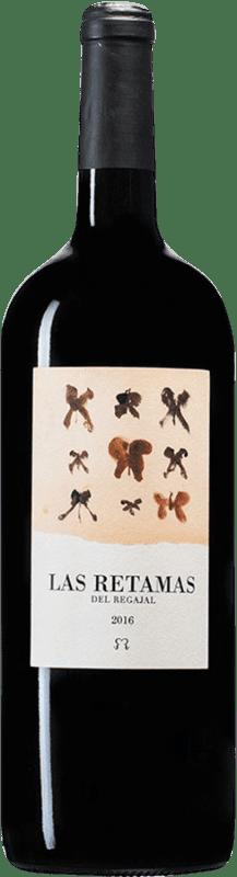 14,95 € 免费送货 | 红酒 El Regajal Las Retamas D.O. Vinos de Madrid 马德里社区 西班牙 Tempranillo, Merlot, Syrah, Cabernet Sauvignon 瓶子 Magnum 1,5 L