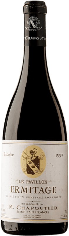 292,95 € Free Shipping | Red wine Chapoutier Le Pavillon 1997 A.O.C. Hermitage France Syrah Bottle 75 cl
