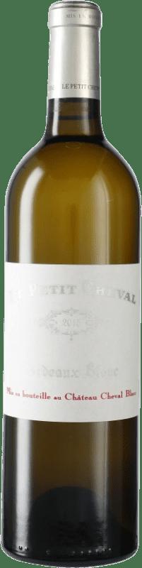 177,95 € Free Shipping | White wine Château Cheval Blanc Le Petit Cheval A.O.C. Saint-Émilion Bordeaux France Bottle 75 cl