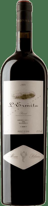 2 335,95 € Free Shipping | Red wine Álvaro Palacios L'Ermita 1998 D.O.Ca. Priorat Catalonia Spain Grenache, Cabernet Sauvignon Magnum Bottle 1,5 L