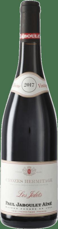 19,95 € Envío gratis | Vino tinto Jaboulet Aîné Les Jalets A.O.C. Crozes-Hermitage Francia Syrah Botella 75 cl
