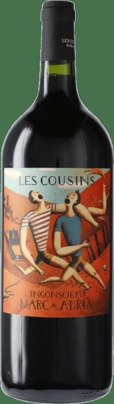 22,95 € Free Shipping | Red wine Les Cousins L'Inconscient D.O.Ca. Priorat Catalonia Spain Grenache, Cabernet Sauvignon, Carignan Magnum Bottle 1,5 L