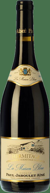 71,95 € 免费送货 | 红酒 Jaboulet Aîné Maison Bleue A.O.C. Hermitage 法国 Syrah 瓶子 75 cl