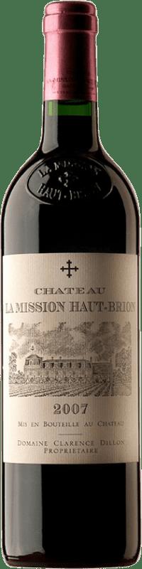 497,95 € Free Shipping | Red wine Château La Mission Haut-Brion 2007 A.O.C. Pessac-Léognan Bordeaux France Merlot, Cabernet Sauvignon, Cabernet Franc Bottle 75 cl