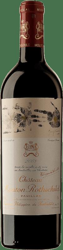 1 112,95 € | Red wine Château Mouton-Rothschild 2005 A.O.C. Pauillac Bordeaux France Merlot, Cabernet Sauvignon, Cabernet Franc Bottle 75 cl
