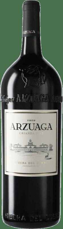 51,95 € Envío gratis | Vino tinto Arzuaga Crianza D.O. Ribera del Duero Castilla y León España Botella Mágnum 1,5 L