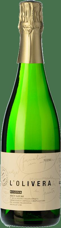 11,95 € Free Shipping | White sparkling L'Olivera Brut Nature Reserva D.O. Costers del Segre Spain Macabeo, Parellada Bottle 75 cl