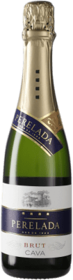 5,95 € Envío gratis | Espumoso blanco Perelada Brut D.O. Cava España Macabeo, Xarel·lo, Parellada Media Botella 37 cl
