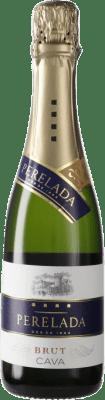 5,95 € 免费送货   白起泡酒 Perelada 香槟 D.O. Cava 西班牙 Macabeo, Xarel·lo, Parellada 半瓶 37 cl