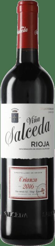 8,95 € Envío gratis | Vino tinto Viña Salceda Crianza D.O.Ca. Rioja España Tempranillo, Graciano, Mazuelo Botella 75 cl