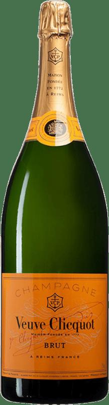 379,95 € Free Shipping | White sparkling Veuve Clicquot Brut A.O.C. Champagne Champagne France Pinot Black, Chardonnay, Pinot Meunier Jéroboam Bottle-Double Magnum 3 L
