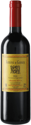 39,95 € 免费送货 | 红酒 Remírez de Ganuza Reserva D.O.Ca. Rioja 西班牙 Tempranillo, Graciano, Viura, Malvasía 瓶子 Medium 50 cl