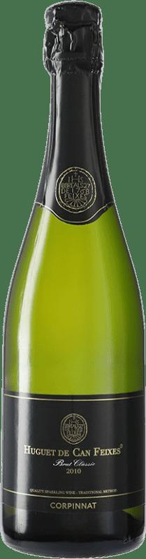 12,95 € Envío gratis | Espumoso blanco Huguet de Can Feixes Brut Corpinnat España Pinot Negro, Macabeo, Parellada Botella 75 cl